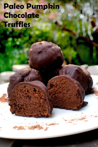 Paleo Pumpkin Chocolate Truffles (egg free, dairy free, gluten free, can be vegan)