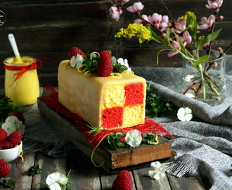 Bolo Battenberg para o Sweet World {Battenberg Cake for the Sweet World Challenge}