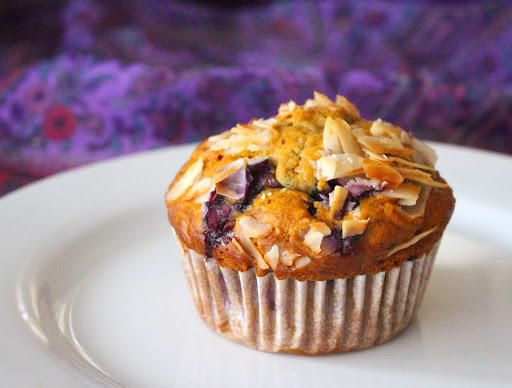 Best Ever Blueberry & Coconut Spelt Muffins