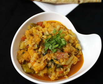 cauliflower curry recipe | cauliflower gravy | gobi curry