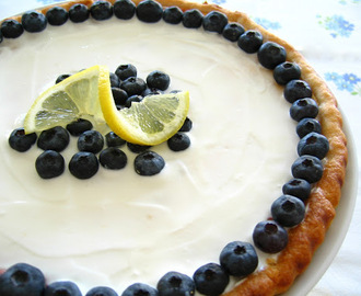 Tarte de ricotta e limão com mirtilos / Ricotta & lemon pie with blueberries