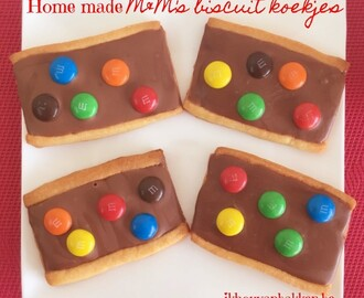 Home made M&M's biscuit koekjes