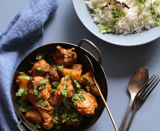 Chicken and potato ghee roast