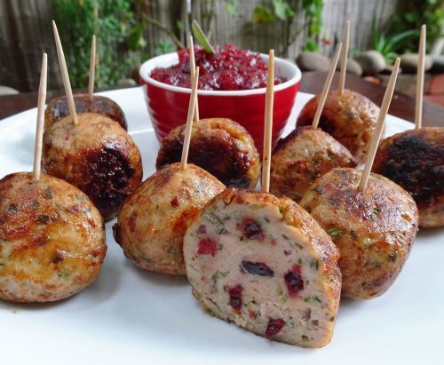 Turkey, Cranberry and Sage Meatballs
