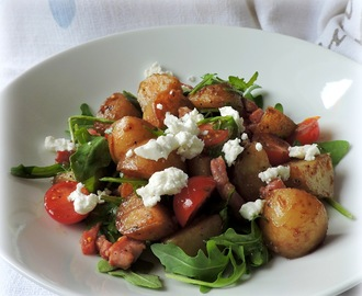 Bacon,Potato,Tomato & Rocket Salad