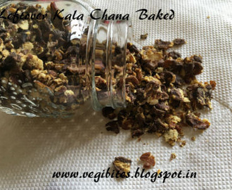 Leftover Kala Chana Baked