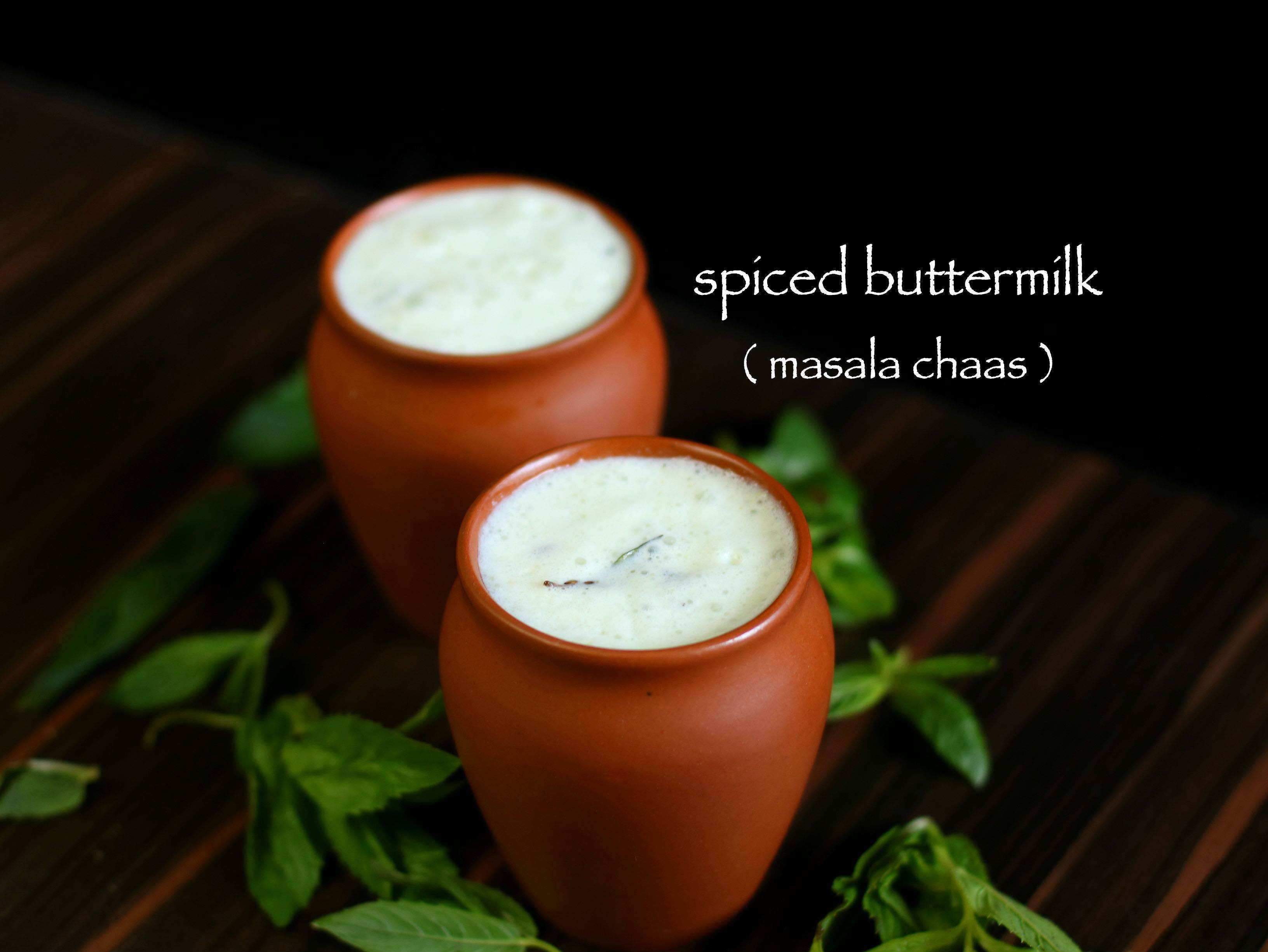 buttermilk recipe | spiced buttermilk recipe | chaas masala recipe
