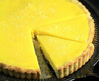 Lemon Tart with Shortbread Crust