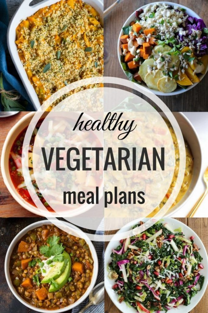 Healthy Vegetarian Meal Plan: Week of 11-5-16