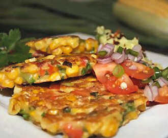 Corn and Bacon Fritters