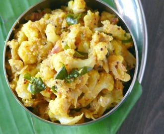 cauliflower fry curry recipe /gobi poriyal/stir fry
