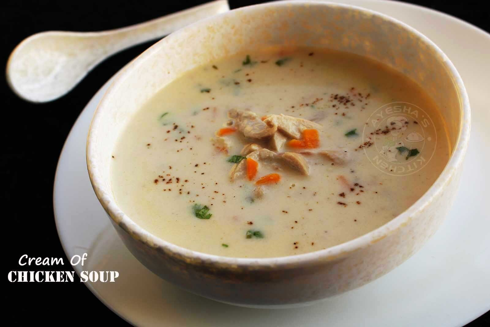 CREAM OF CHICKEN SOUP RECIPE - MAKING CHICKEN BROTH AT HOME