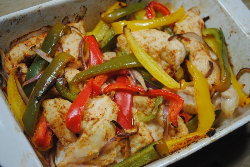 One Dish Delicious Chicken Fajitas Recipe
