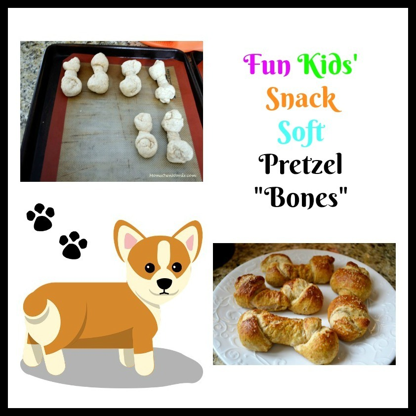 "Fun Kids' Snack Soft Pretzel ""Bones"""