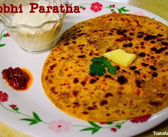 Gobhi paratha (Cauliflower stuffed in Indian Flat Bread)