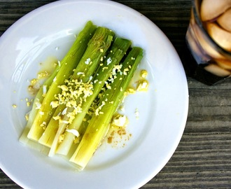 Leeks Vinaigrette with Mimosa  #French Fridays with Dorie