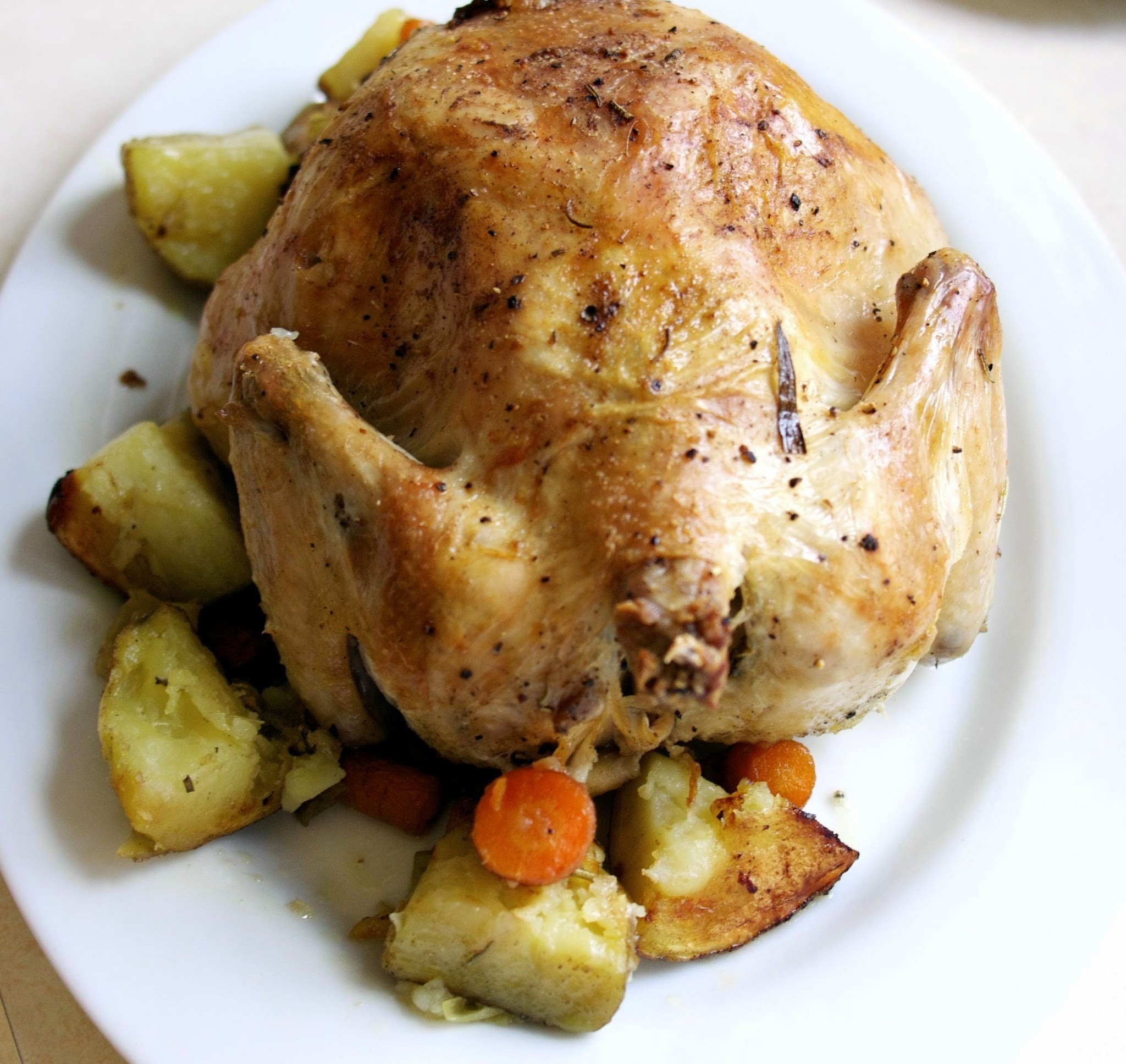 Roast Chicken with Vegetables for Les Paresseux #Foodie Friday #Food Revolution
