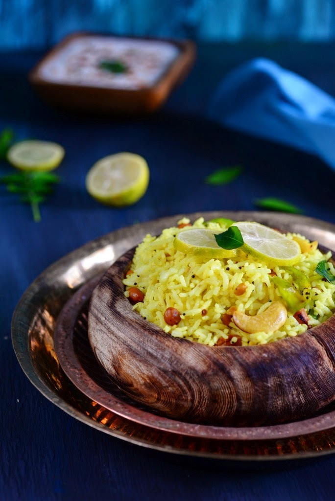 Lemon Rice\ Cooked Rice Fried with Indian Spices and Flavored with Lemon Juice
