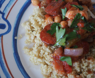 chicken + chorizo with quinoa (gluten +dairy free)