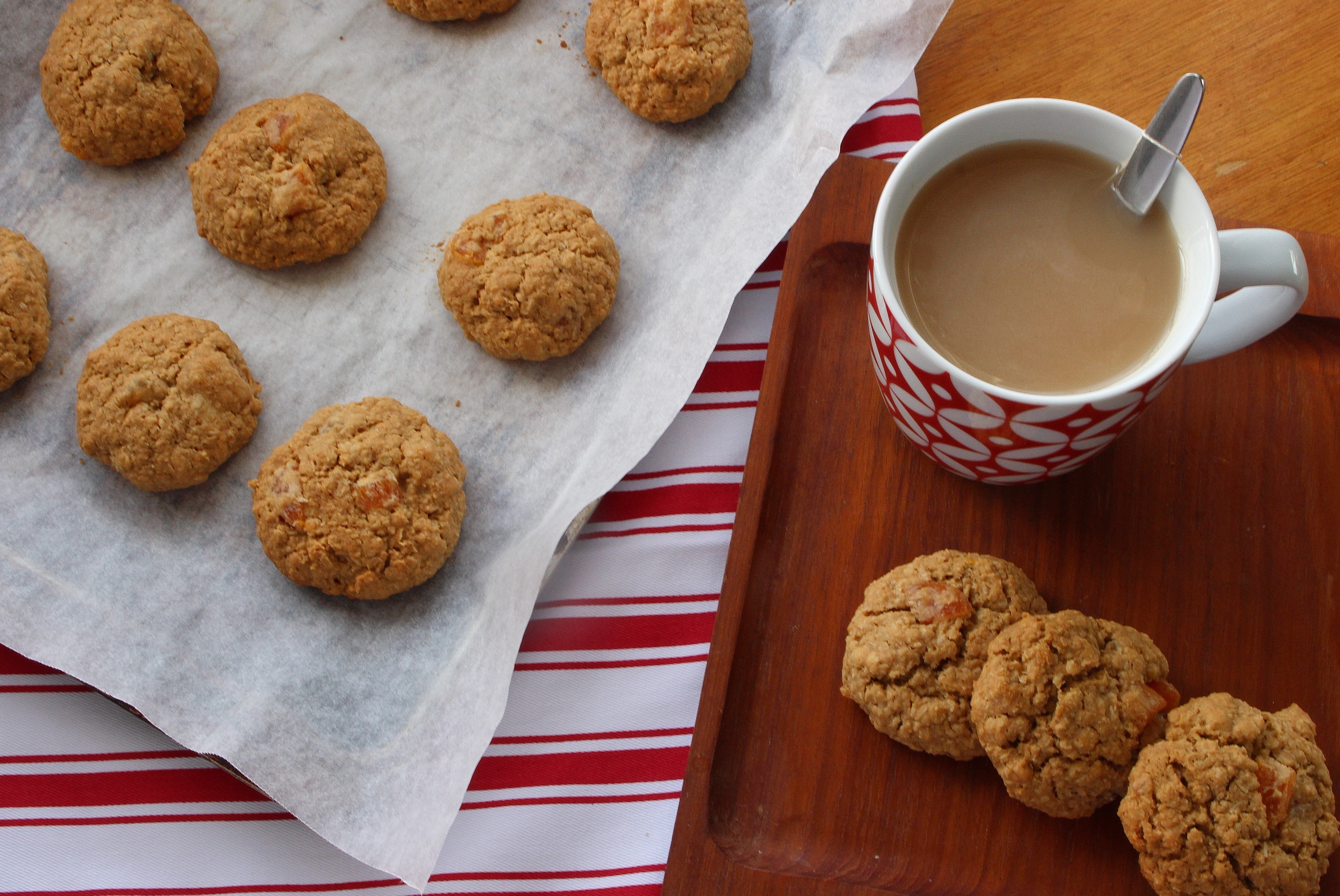 Honey, Apricot, and Coconut Cookies (gluten free)