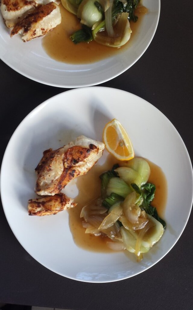 Monk Fish with Bok Choy – a tasty low calorie dish