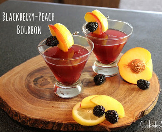 Summer Drink Series: Blackberry-Peach Bourbon Spritzer