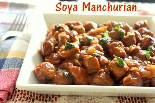 Soya chunks manchurian recipe – How to make soya manchurian recipe – soya chunks recipes