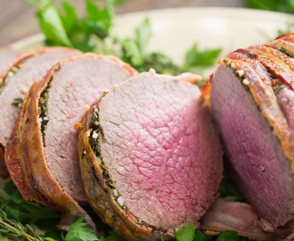 Bacon Wrapped Eye of Round Roast
