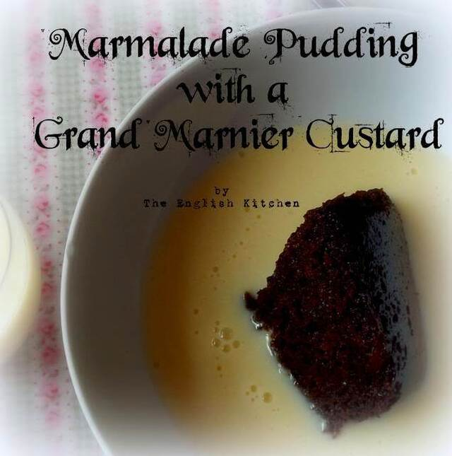 Marmalade Pudding with an Orange Infused Custard