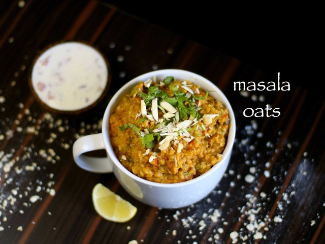 masala oats recipe | easy homemade veg masala oats upma