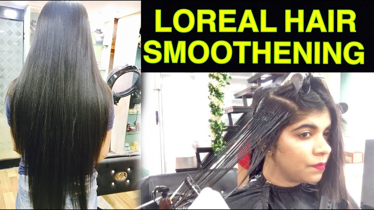 Hair Smoothening Tutorial in Hindi | How to do Permanent Loreal Hair Smoothening | Ruchistylecorner