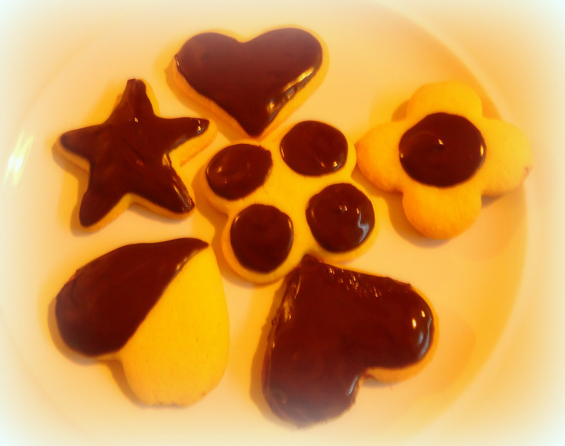 Galletas dulces con chocolate