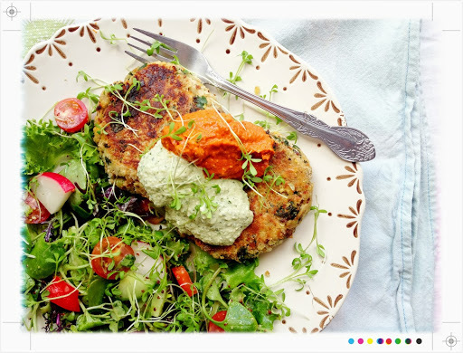 Good For You:Vegetable Burgers with Coriander Cream