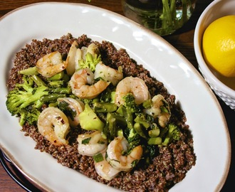Basil and Shrimp Quinoa #Idiot's Guides:The Mediterranean Diet Cookbook #Weekly Menu Plan