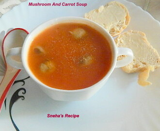 Mushroom And Carrot Soup #soupswappers