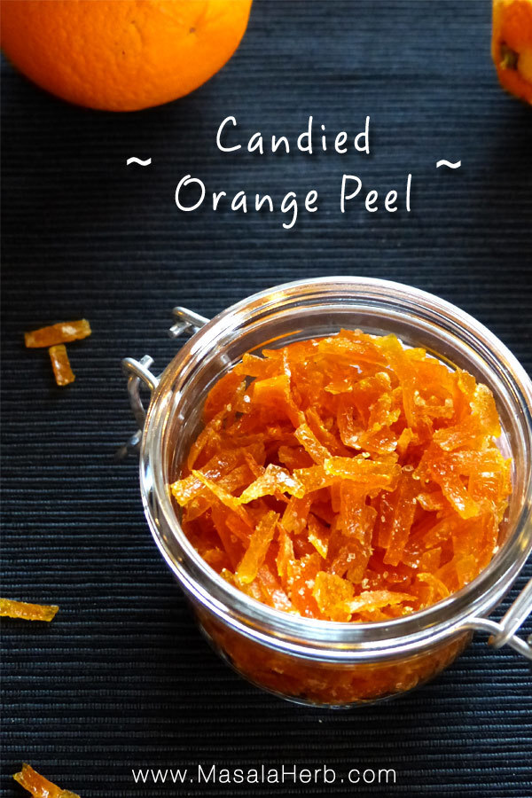 Candied Orange Peel Recipe – How to make candied Orange Peel [DIY]