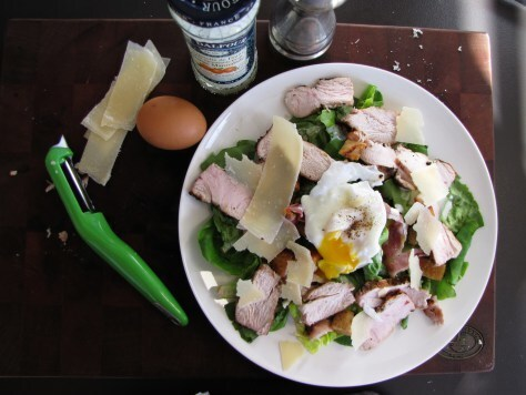 Grilled Turkey Caesar Salad