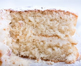 Four Ingredient White Coconut Cake
