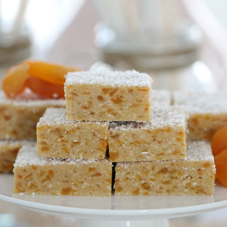 Apricot Coconut Slice (No-Bake)