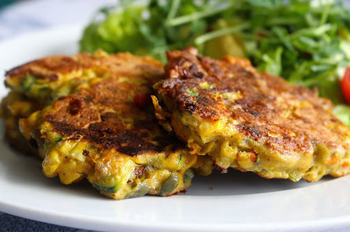 Gluten Free Curried Corn & Vegetable Fritters