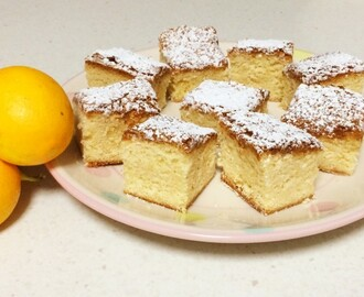 Lemon, Coconut & White Chocolate Blondies