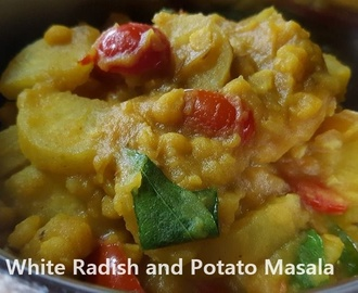 White radish and Potato Masala
