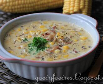 Recipe: Corn, bacon and potato chowder (Curtis Stone)