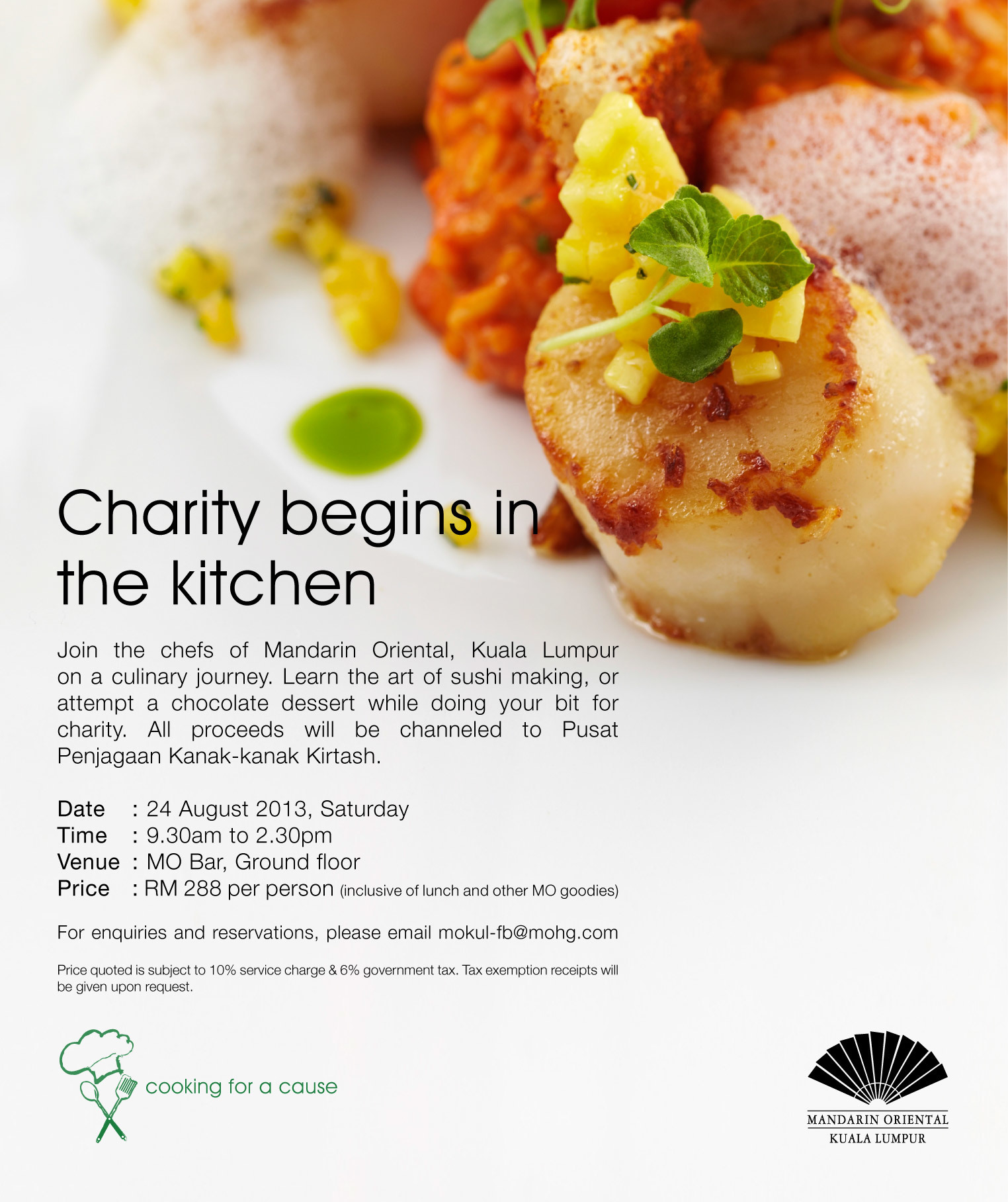 "PSA: ""Cooking for a Cause"" Charity Program by Mandarin Oriental KL"