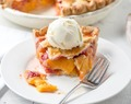 Peach Raspberry Pie with a Lattice Crust