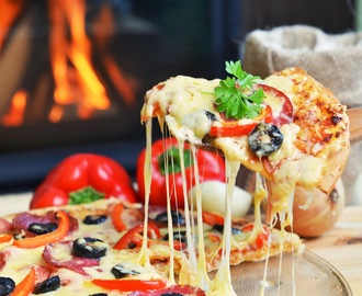 Microwave Italian Chicken Pizza Recipe