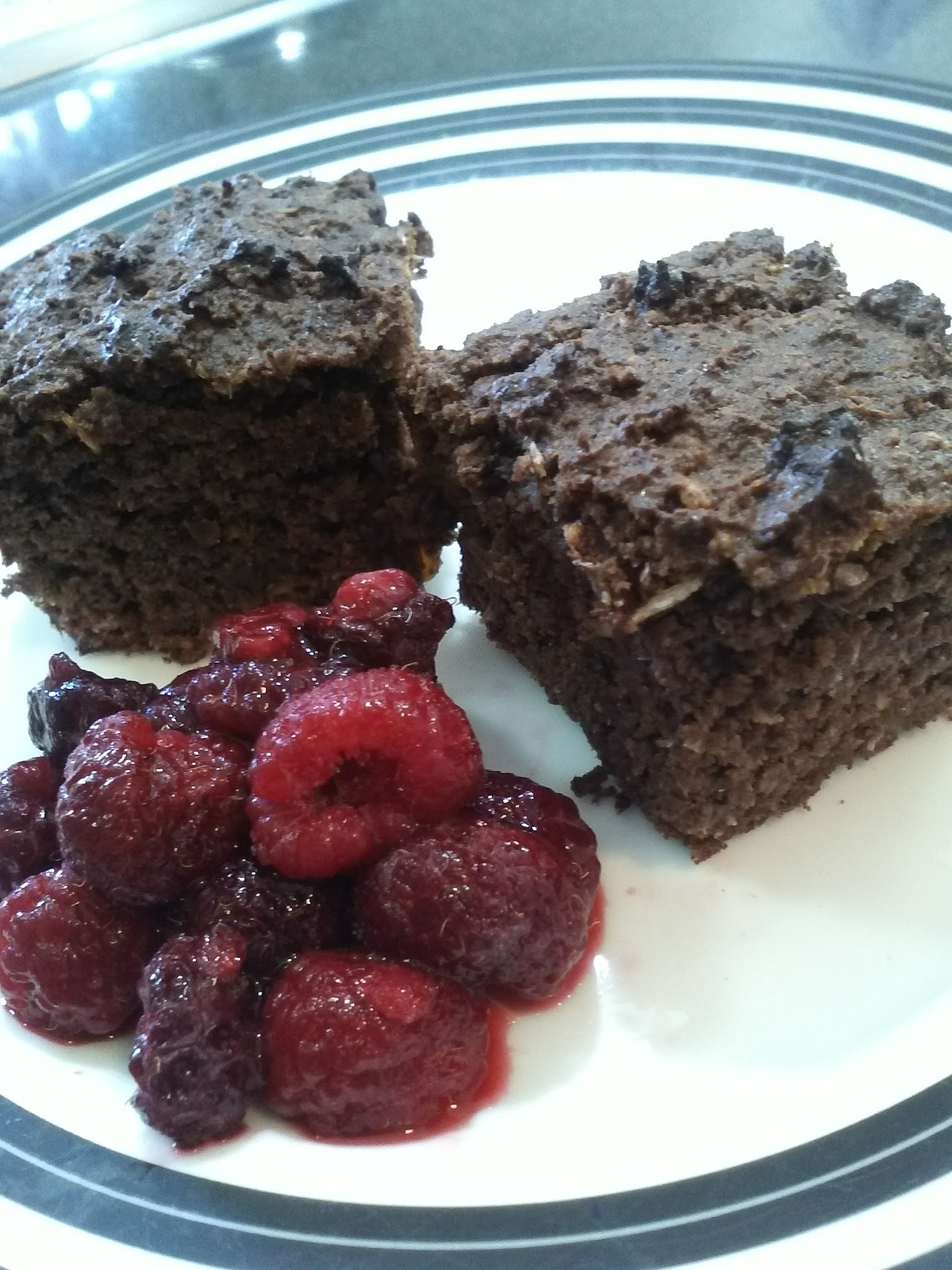 Paleo Raspberry Chocolate Brownie - Grain and Dairy Free