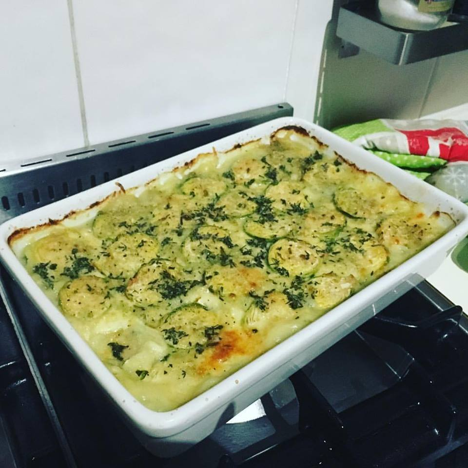 Paleo Brussels sprouts and cauliflower gratin ... in the Thermomix