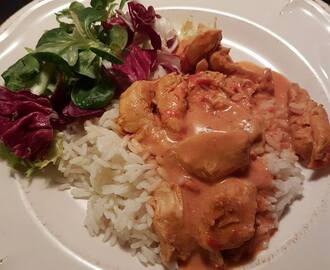 Kycklinggryta med curry i Crock-Pot.