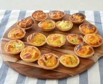 Mini Ham and Cheese Quiches